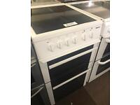 WHITE BEKO ELECTRIC 50CM WIDE COOKER WITH GUARANTEE