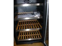 wine cabinet caple model WF 333. white with 4 racks humidity system temperaturesrecommended