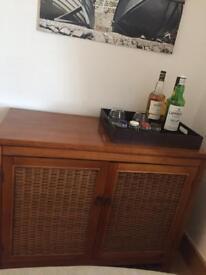 URGENT - WEST ELM - Dark Wood tray 35x45x8 cm