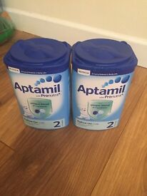 2 tubs of stage 2 aptamil, unopened selling for £10