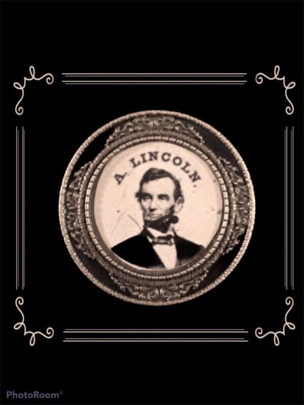 Abraham Lincoln Beautiful Reproduction 1.75 Round Political Campaign Pin