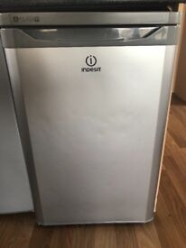 Silver Indesit under counter fridge for sale