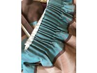 STUNNING TEAL/CHOCOLATE/MOCHA CURTAINS