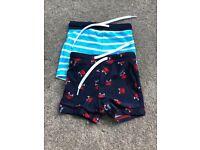 Boys swimming trunks 9-12 months