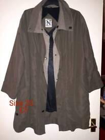 Ladies khaki long coat as new size 18-20