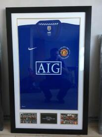 Signed Manchester United double winners shirt 2008