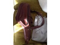 Reunion Blues Brown Genuine Leather Alto Sax Case