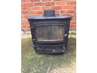 Cast iron log burner stove
