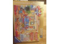 1000 piece jigsaw with comic DIY image. Still in cellophane, never opened.