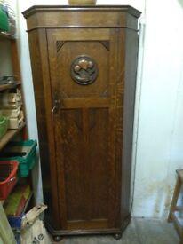 Vintage single wardrobe with ship on the door