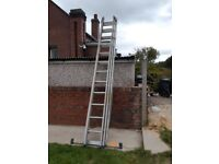 Zarges tripple ladders, huge and heavy!
