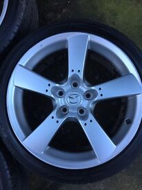 4x Mazda Rx8 Alloys with tyres