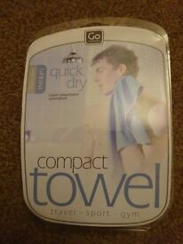 New Go Travel Compact Towel Only £3 Each ideal holidays or camping gift