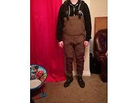 Snowbee XS Neoprene Waders. Size 9-10. £80