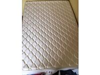 Firm double mattress with divan drawers