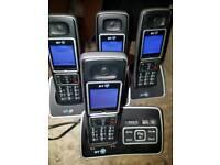 Cordless phone set x4