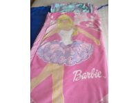 Children's Barbie Blow up Bed & Sleeping Bag in one. Ready made bed.