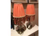 M&S bedside lamps