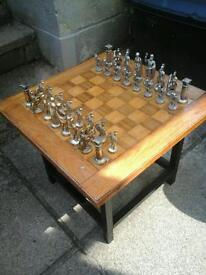 Chess set and board in used condition but very nice.