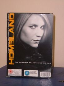 HOMELAND Season 1, 2, DVD box set