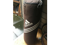 Adidas Punch bag (3ft tall) & gloves