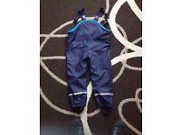 Boys Waterproof Fleece trouser 4-6 years