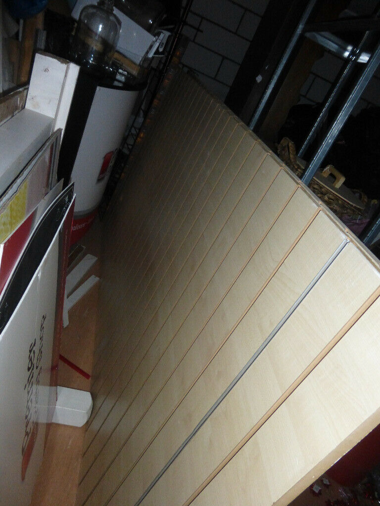 d729bdbfae Slatwall Sheets and over 300+ hooks Shop Counter with slatwall front ...