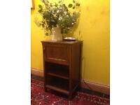 solid small bedside table oak cupboard perfect upcycle project painting 30s 40s antique deco