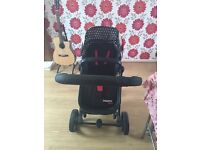 Cosatto Pram Travel System car seat carrier cot