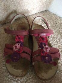 Girls Clarks Sandals size 9.5