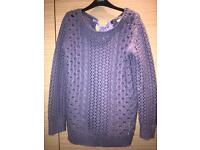 Purple knit jumper from Oasis. Size S