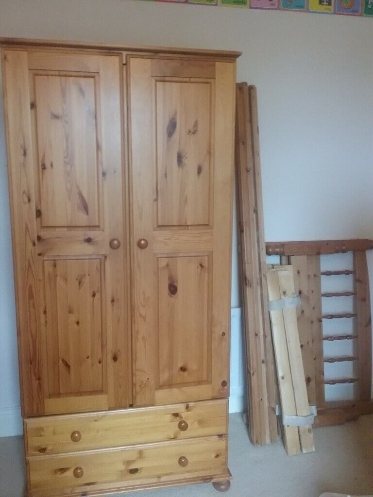 Admirable Pine Bedroom Furniture Wardrobe Drawers Single Bed In Greenside Tyne And Wear Gumtree Download Free Architecture Designs Crovemadebymaigaardcom