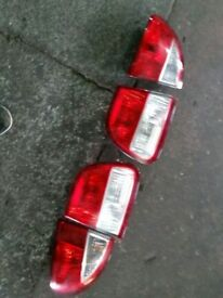 2000-2005 SEAT LEON CUPRA R SET OF REAR BRAKE LAMPS 4 PIECE