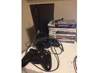 X box 360 . 2 Controllers. 10 games