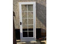 White painted internal doors- 726x2040mm panelled door & 826x2040mm glazed door