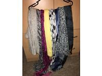 Scarves and belts 50p each