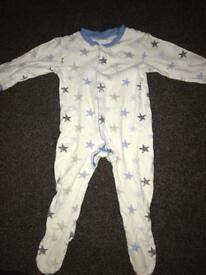 """""""Stars"""" sleepsuit 12-18 months"""