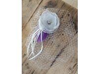Gorgeous handmade bridal fascinator / veil