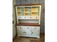 Large country kitchen white oak dresser