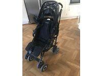 Maclaren Techno XT buggy with designer footmuff