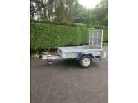 Indespension Challenger G13064 braked single axle trailer. NO VAT