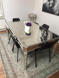Large Mirrored Dining Table