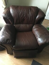 Second hand leather recliner