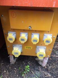 ONO*Rating: 10kVA (10,000 Watts) BS4363 Input: 240 Volts AC Output: 110 Volts 4 x 16Amp & 2 x 32Amp