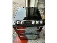 Black zanussi ceramic double oven
