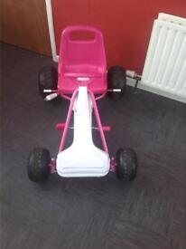 pink and white go kart