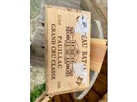 Wooden wine box pauillac