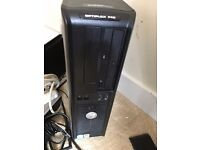 Dell Optiplex 745 and monitor . Keyboard and mouse
