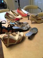 Ladies Summer Brand Name Shoes (most new) Size 7.5 and 8, 8.5