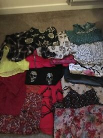 Bundles of young ladies clothes
